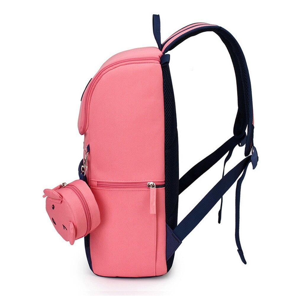 Bambini Per Le Ragazzi Ortopedico Capretti Fumetto Zainetto Pink Red big Della  Da small Impermeabile Dei ... 8aaf4499948