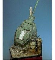Reçine Kitleri 1/35 Ölçekli Siper Sahne T-Tank Turret Reçine Modeli DIY OYUNCAKLAR Ücretsiz Kargo