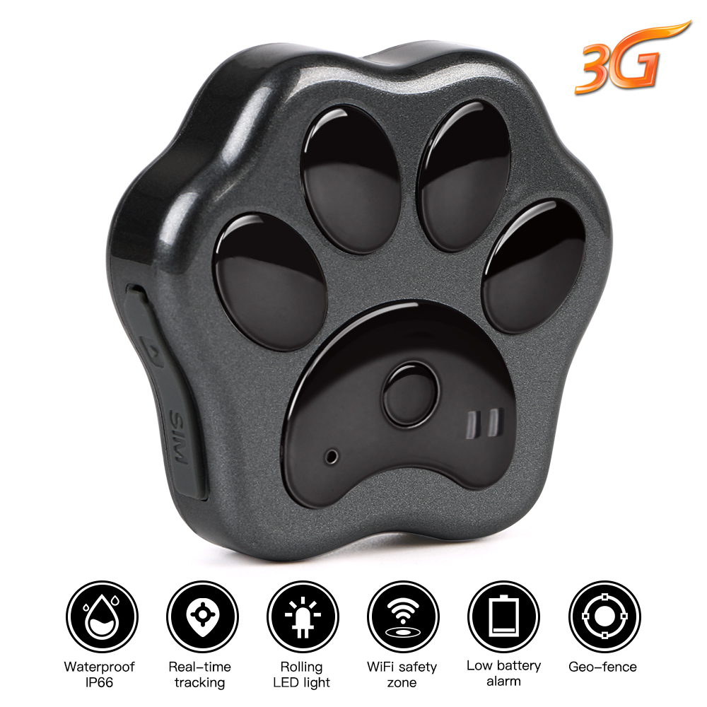 3G GPS tracker Dog Cat Pet GPS Locator Real Time Tracking Device WCDMA DOG Track Waterproof Free Web Android iOS Tracking Device pet dog cat gps tracking locator collar real time waterproof mini smart anti lost lcc77
