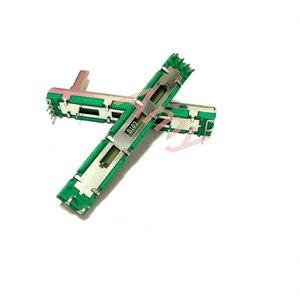 Миксер фейдер прямое скольжение потенциометр громкости B10K длина 60 мм ход 45 мм ручка высокая 15 мм двухканальный
