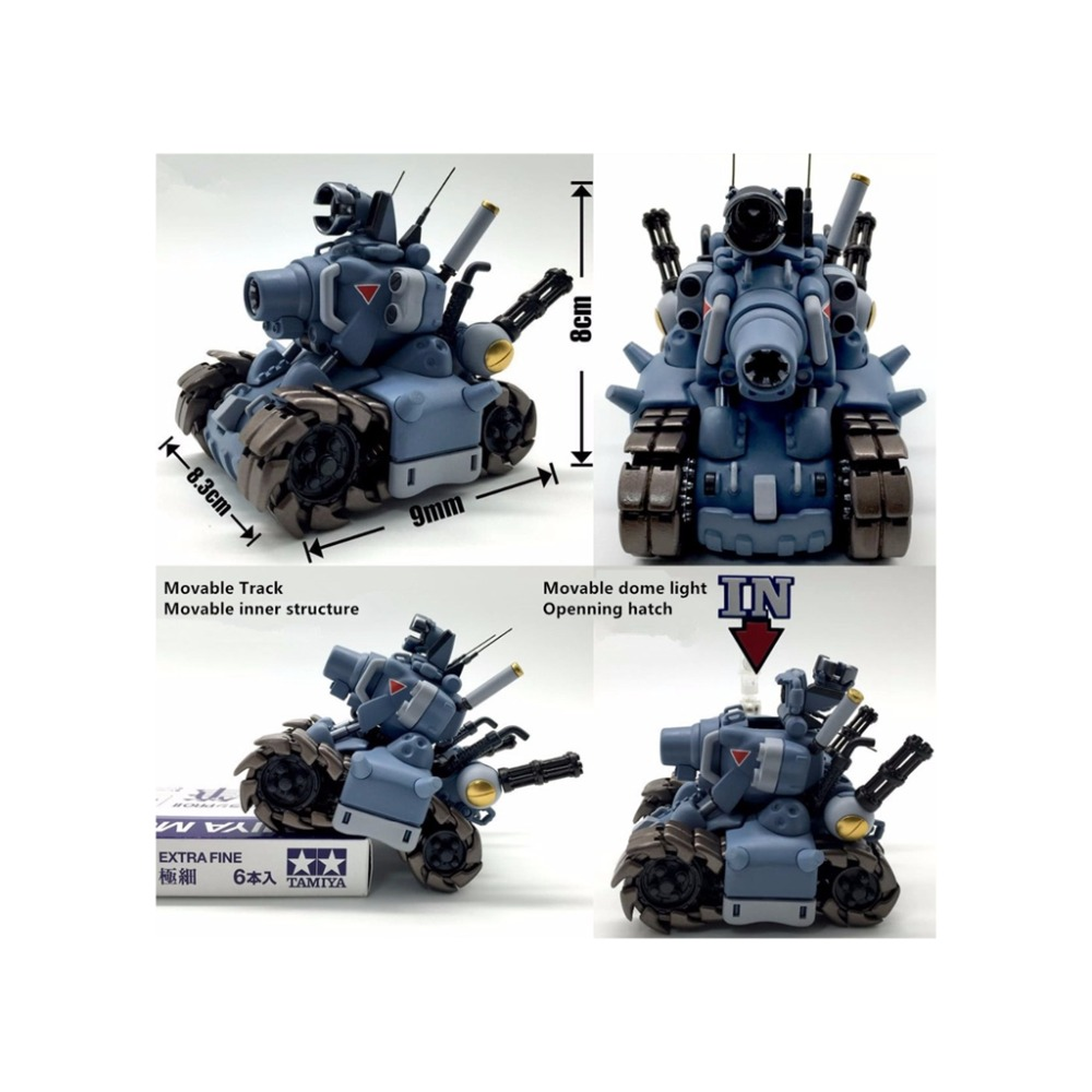 1/35 Yihui Metall Slug Super Fahrzeug Sv-001 Tank Modell + Ms Waffe 01 Gating Gun Dinge FüR Die Menschen Bequem Machen