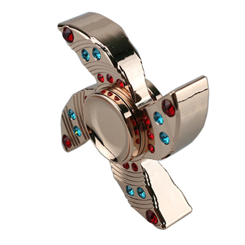 Hot New Four Corners with Jewels Fidget Spinner Relief Pressure Hand Spinner EDC Anti Stress Toys Adult Kids Finger Toys 2017 infinity cube new style spinner fidget high quality anti stress mano metal kids finger toys luxury hot adult edc for adhd gifts
