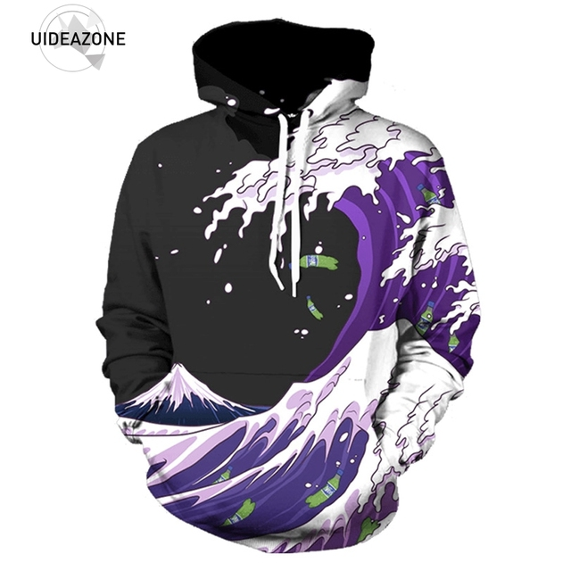89e4185756ce Purple Drank Waves Hoodie Men Women Hip Hop Streetwear Harajuku Fashion  Sweatshirts European And American Young Style Outwear