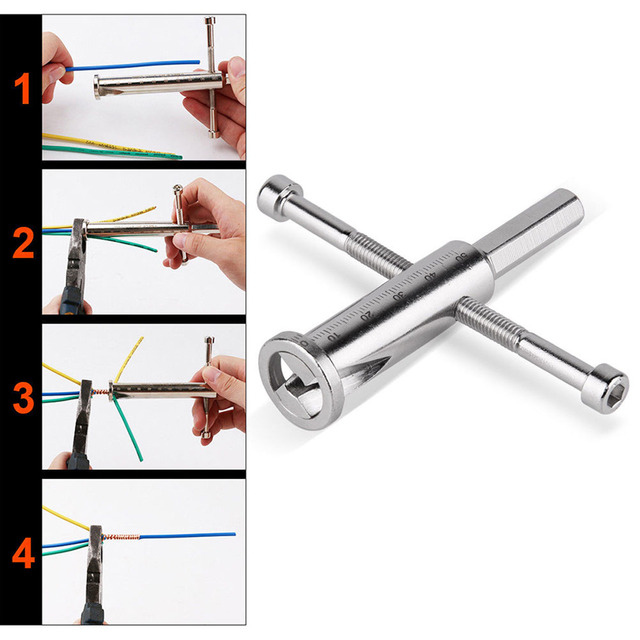 Manual Wire Twisting Tool Steel Cable Connector Wires Stripper ...