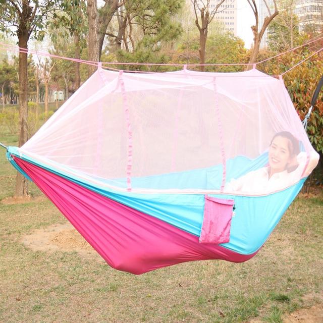 Hammock Furniture Swing Hammock tent Hanging chair Garden swing Double hammock Portable mosquito net hammock Polyester fiber