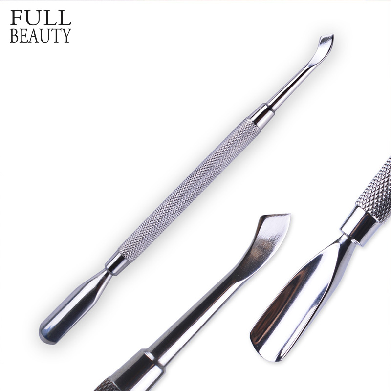 1pcs Professional Stainless Steel Cuticle Pusher Gel Polish Remover Cutter Cleaner Nail Art Manicure Pedicure Accessory CH#07-33
