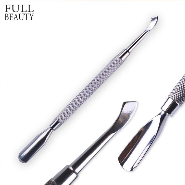 US $1 37 25% OFF Full Beauty 1pcs Professional Nail Tools Cuticle Pusher UV  Gel Polish Remover Cutter Nail Art Care Manicure Spoon CH#07-in Cuticle