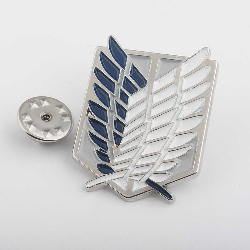 RJ Fashion Anime Investigation Corps Alan Wings of Freedom Brooches Pin Attack on Titan badge Brooch Pins For Men Fans Gifts