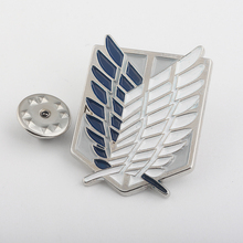 RJ Fashion Investigation Corps Alan Wings of Freedom Brooches Pin Attack on Titan badge Brooch Pins For Men Fans Gifts