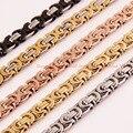 Индивидуальные размер 7 - 40 дюймов 6 / 8 / 10 мм из нержавеющей стали 316L многоцветные мужская византийская звено цепи ожерелье или браслет