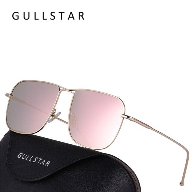 GULLSTAR 2018 Fashion Mirror Rose Gold Women Square Sunglasses Brand  Designer Sun Glasses For Men High Quality Oculos De Sol HD b722eb4002