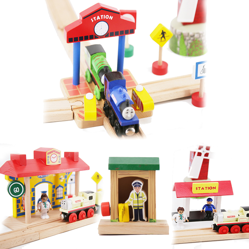 Thomas and Friends Wooden Tracks Train Station Model Toys Magical Educational Railway Wood Accessories Brio Toys for Children