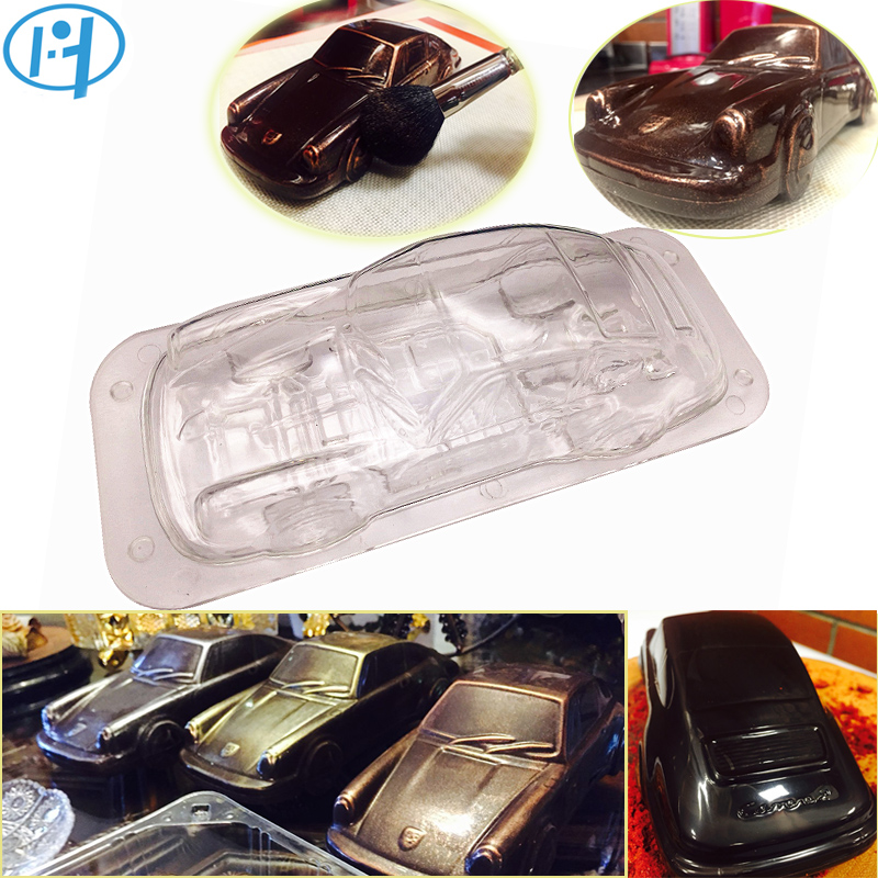 Car Design 3D Chocolate Mold DIY Handmade Cake Candy Plastic Vehicle Chocolate Making Tool Cake Decorating molds Baking Mould