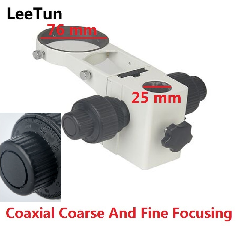 LeeTun Stereo Microscope Adjustment Coaxial Coarse Fine Focusing E Head Arm Holder Ring Arbor Stand Bracket Bar Hole Dia. 25 mm leetun stereo microscope adjustment focus arm holder e arm head holder ring arbor stand bracket diameter 76 mm accessories