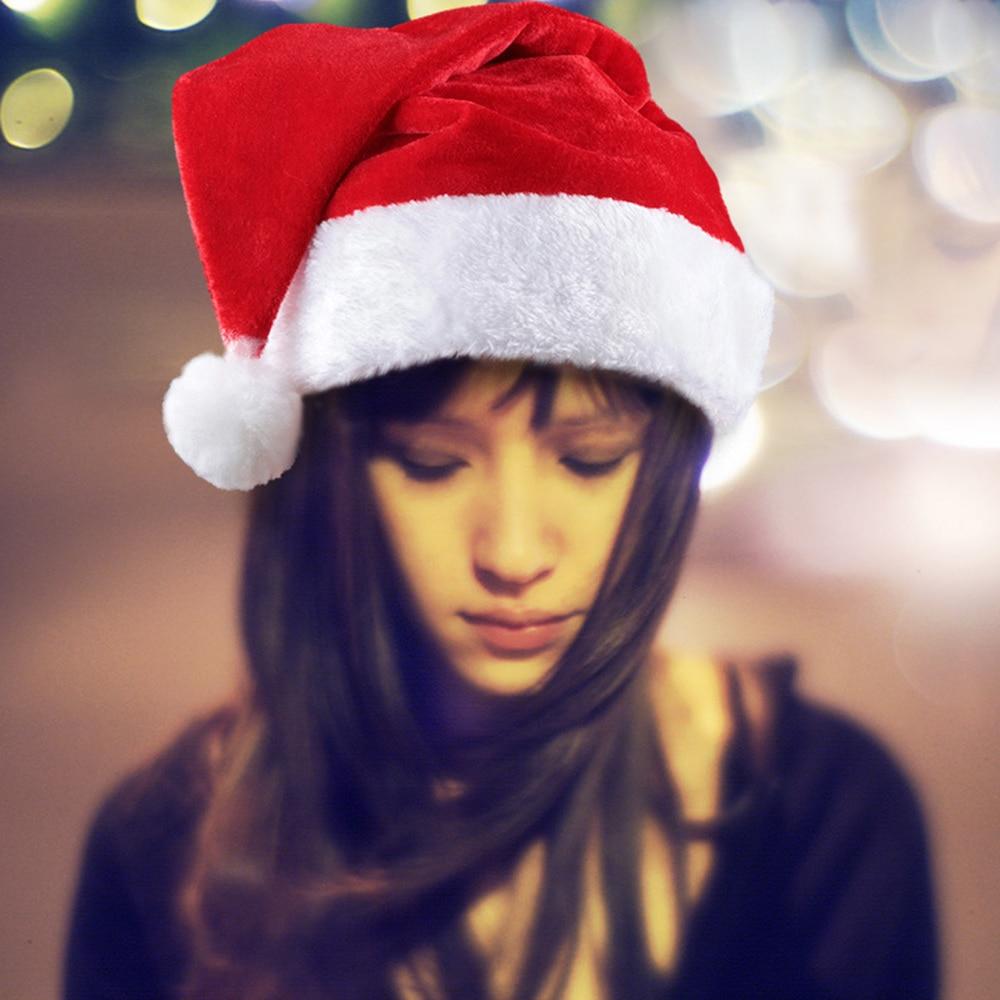 Christmas Hat For Adults Children Santa Claus Christmas Ornaments Santa Hats Party Cap Xmas Party Props Decoration