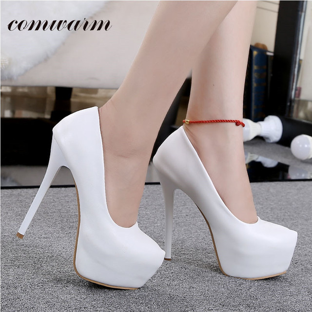 9fdadf2df0 The Wedding Bride Beautiful Combination High Heel Shoes for Women Bright  Lady Pumps Shoes Round Toe Platform High Heel Shoes