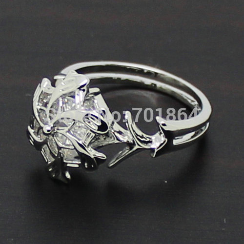 Free Shipping 925 Sterling Silver Nenya Galadriel 's Flower Ring of Water + Ring Box Set The Hobbit Jewelry