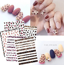 1 Sheet Black/White Leopard Nail Art Water Transfer Stickers Decals Beauty Full Wraps Manicure Decoration DIY Accessory все цены