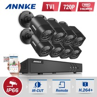 ANNKE 8CH 1080P HDMI CCTV System 8pcs 720P HD 1200TVL CCTV Security Cameras IR Outdoor Waterproof