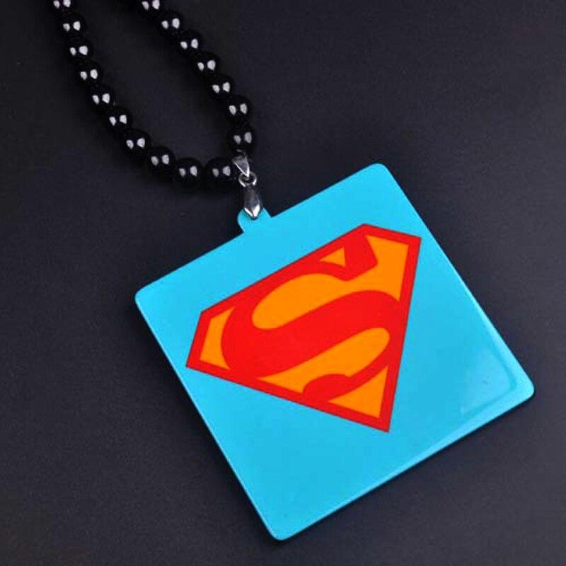 Новый хип-хоп Супермен Цепочки и ожерелья Цепи для Для мужчин длинные бусы череп Подвески мужской ювелирные изделия Bijoux подарок колье Bijoux