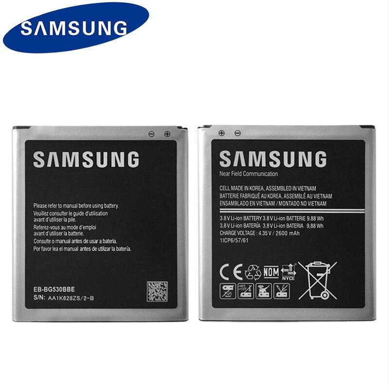 Bateria original do telefone de samsung EB-BG530CBU EB-BG530BBE para galaxy grand prime j3 2016 EB-BG531BBE g5308w g530 g531f g530h g530f