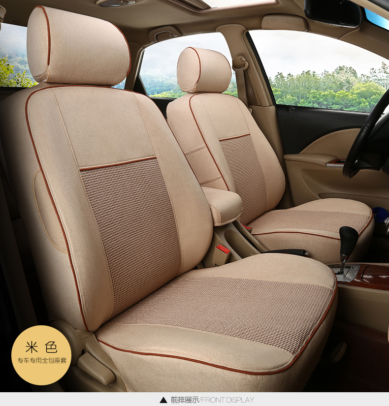 TO YOUR TASTE auto accessories custom luxury linen car seat cover for VW C TREK scirocco R multivan Magotan Variant healthy cozy