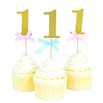10pcs/Set Girl Birthday Party Cake Decoration Toys Hat Children Party Toy  Cupcake Toppers Princess Crown Hat Toys For Children