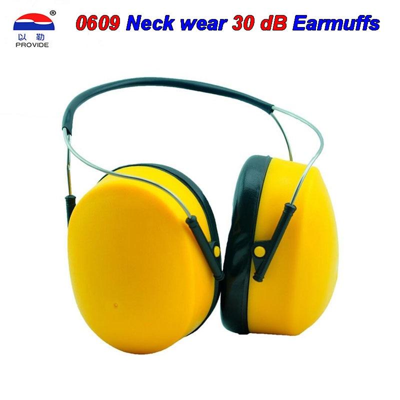 PROVIDE 0609 noise earmuffs Neck wear concise 30 decibels Noise earmuffs Orange Sleeping shooting Multipurpose ear defenders
