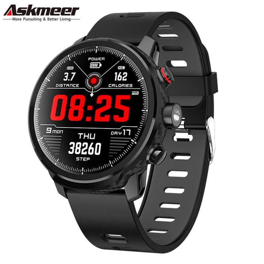 ASKMEER Smart Watch Men IP68 Waterproof Smartwatch Bluetooth Heart Rate Monitor Remote Camera Multi Sports Mode