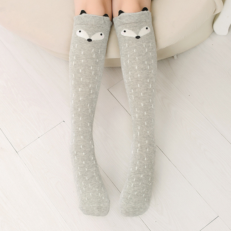 Cotton Baby Kids Socks Cartoon Cute Children Socks Print Animal Knee High Long Socks  Baby Girls Socks Clothing Accessories 6