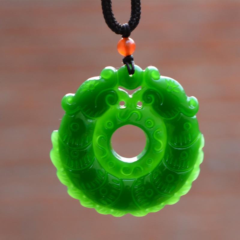 White Jade Chinois Zodiac collier pendentif charme bijoux Lucky Amulet cadeaux