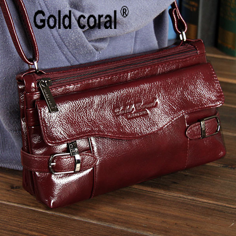 ФОТО 2015 Genuine leather small messenger bags for women ladies shoulder bags new handbags female cowhide shopping packs