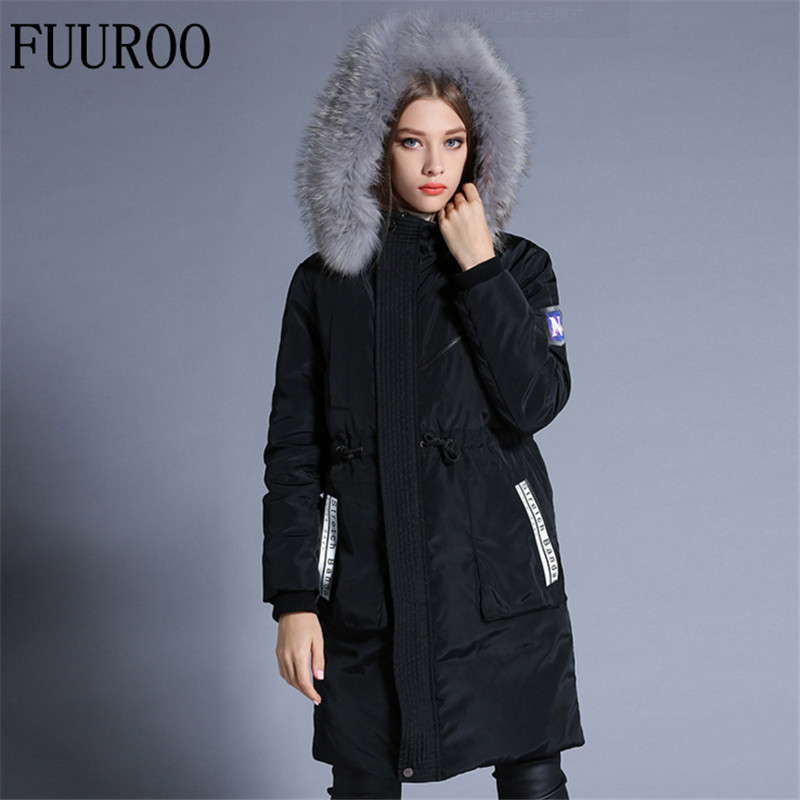 39135a476 Women Thick Down Coats Winter Snow Warm 90% White Duck Hoodies Brand ...