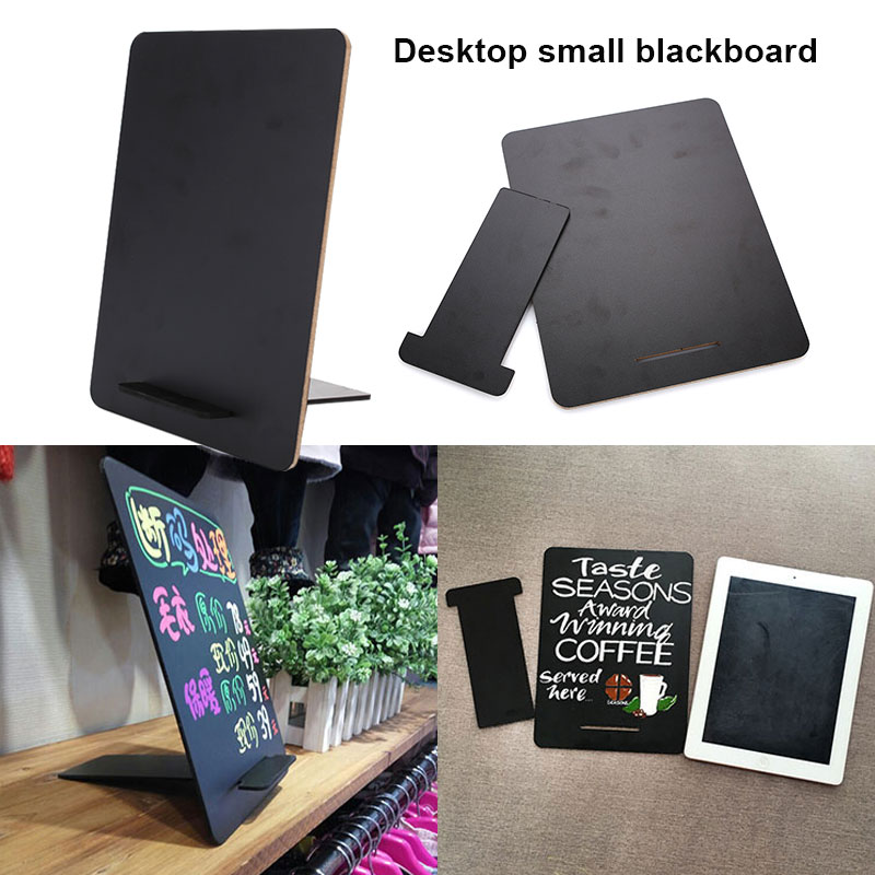 Memo Board Matte Surface Message Board Desktop Small Blackboard MDF Double-Sided for Kids Rooms desktop message blackboard pine wood easel chalkboard kids wooden memo black board collapsible writing boards