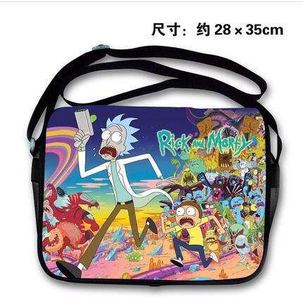New 2 Qualità 1 Tracolla Alta Di 4 Pu Anime Messenger Rick E Morty 5 A Borse 3 Fashion r7q6Ur