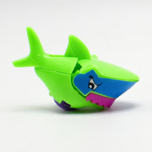 Novelty 5pcs/lot DIY Assemble With Wheels of Sharks Self-Locking Bricks Toys for Kids Gift