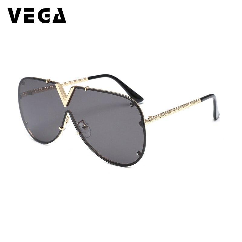 dc3e9185ab7 VEGA Eyewear Big Frame Vintage Oversized Sunglasses Women Pilot Sun glasses  Female Oversized Glasses Clear Lens