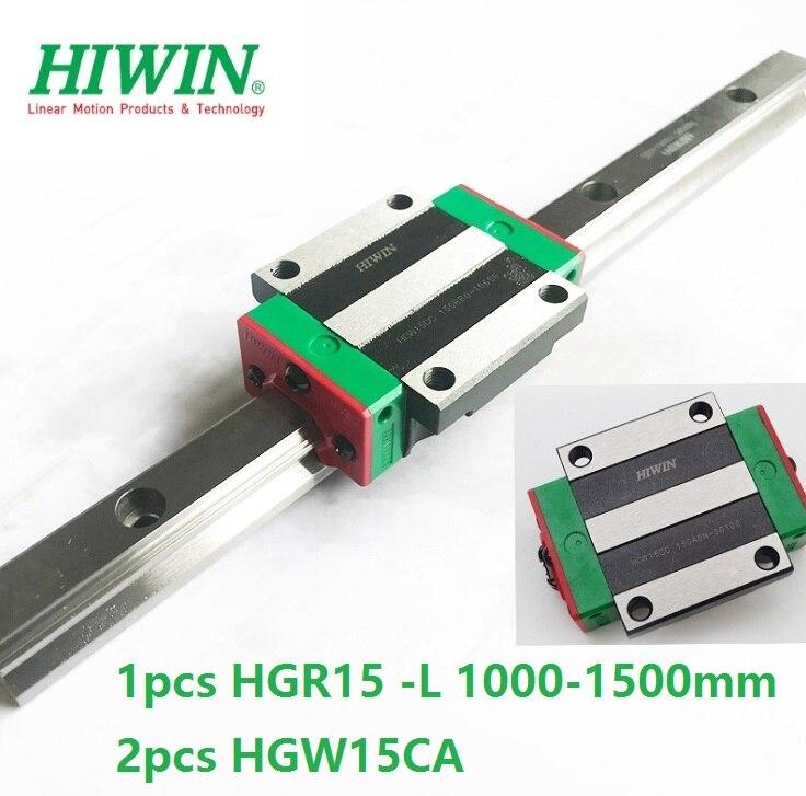 1pcs Original Hiwin linear rail guide HGR15 1000mm 1100mm 1200mm 1300mm 1400mm 1500mm +2pcs HGH15CA Or HGW15CA(HGW15CC) Blocks