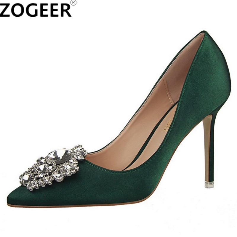 New Brand Women Elegant Pumps Luxury 2018 Sexy High Heel