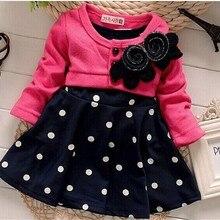 BibiCola/Новые модные рождественские платья для маленьких девочек; детская одежда; милое двухцветное платье принцессы в горошек