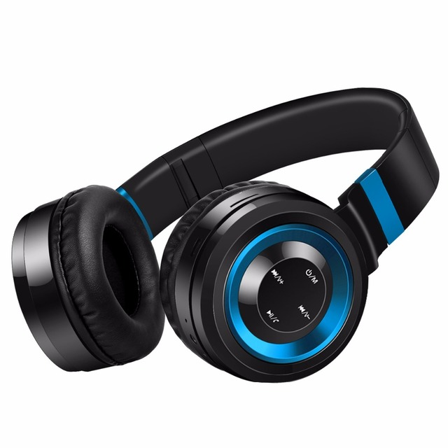 LeadTry Bluetooth Headphones Wireless with Mic Stereo Handsfree Headset Support TF Card FM Radio for iPhone Samsung Sony Xiaomi