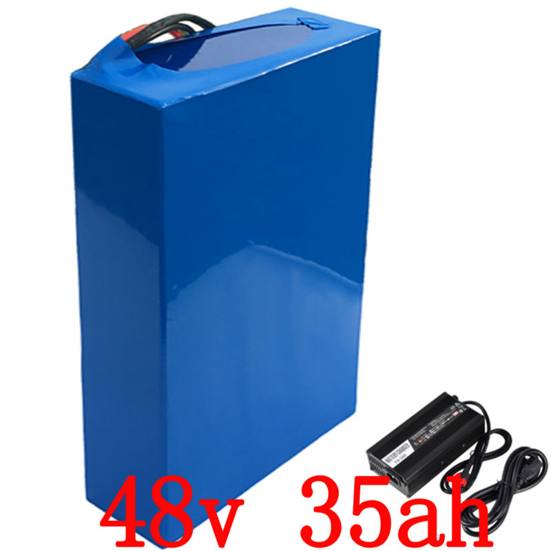 Free shipping 48V 35AH 4000W  lithium-ion battery 48V ebike bicycle motorcycle battery Use for Panasonic Cell 100A BMS 5ACharge 48v 34ah triangle lithium battery 48v ebike battery 48v 1000w li ion battery pack for electric bicycle for lg 18650 cell