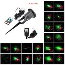 20 Renderings Laser Light Outdoor Waterproof IP65 IR Control Red Green christmas laser projector lamp Bar DJ party stage light