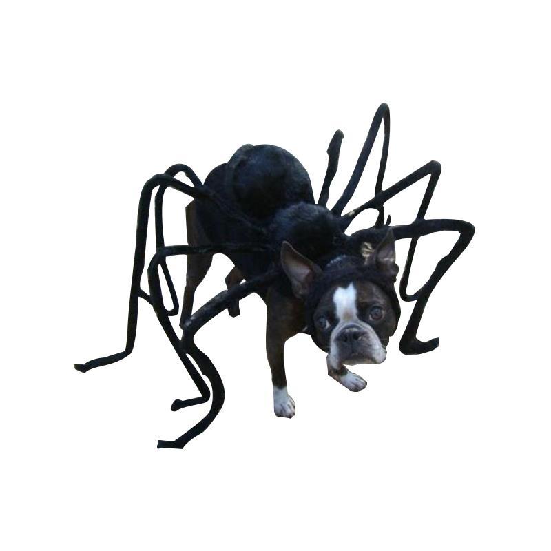 Streich Halloween Pet Kostüm Hund Witz Katze zubehör Schwarz Spinne Scary Prop Horror rucksack Bösewicht terror Tiere Lustige DIY