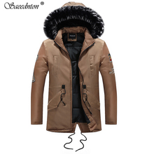 Mens Down Warm Winter Coat 2019 New Male Casual Jacket Large Size XXXL Full Sleeve Thicken White Duck Hooded Coats