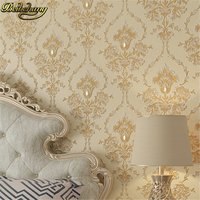Papel De Parede Flower Wall Paper Damask Wallpaper Vintage Non Woven Background Wall Wallpaper White Wallcovering