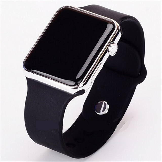 Men's Metal and Silicone Digital Watch