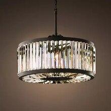 Vintage lámparas de iluminación LED de cristal moderna lámpara de prisma luz lustres de cristal para casa decoración de bodas Hotel