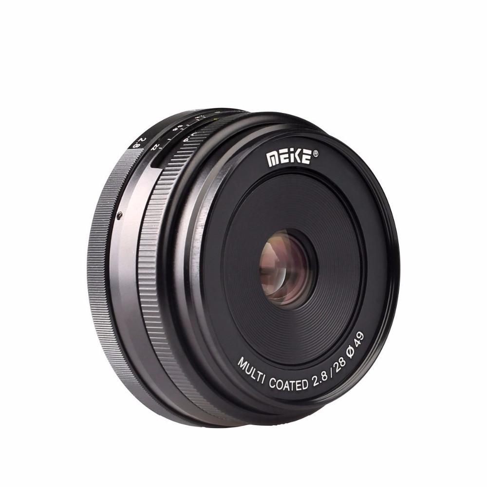 MEKE 28mm f/2.8 Manual Focus Fixed Lens for Sony E Mount Digital Cameras NEX3/3N/5/5T/5R/6/7/A5000/A5100/A6000/A6100 and A6300 50mm f2 0 aperture manual focus lens aps c for eosm nikon1 m43 sony e mount nex3 5t 6 7 a5000 a6000 a6300 fuji xt1 camera
