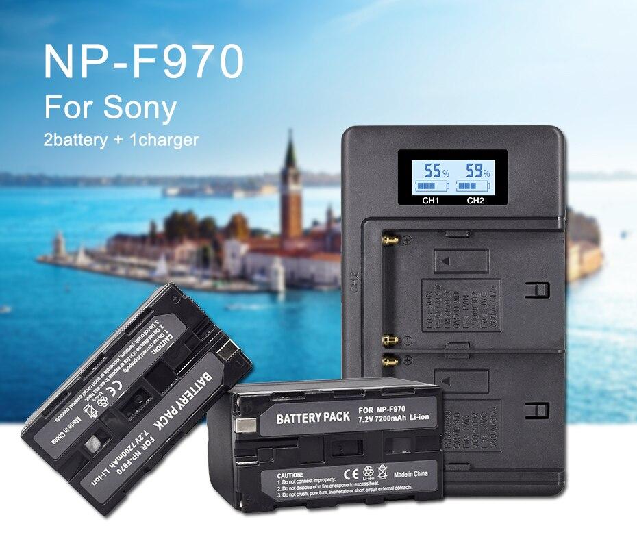 NP F960 npf960f970 lcd carregador duplo +